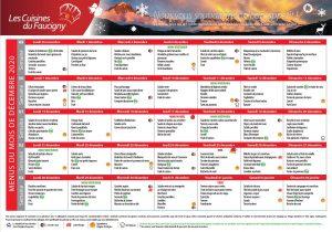 menu décembre