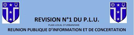 PLU- Réunion publique le 03/06/2019