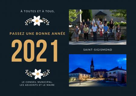 Vœux à la population, Saint-Sigismond 2021